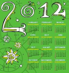 2012 sketchy calendar