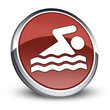 "Red 3D Style Icon ""Swimming"""