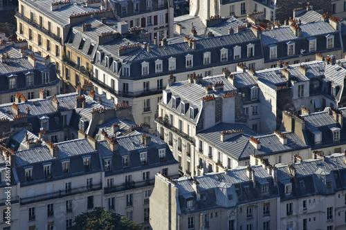 Papiers peints Vue aerienne toits de paris 001