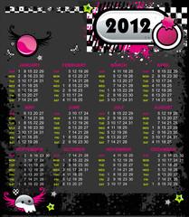 Grunge Emo Calendar for 2012.