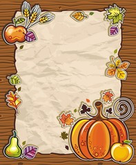 Thanksgiving theme 4: Beautiful Holiday paper arrangement