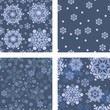 Seamless background with Christmas snowflakes