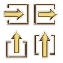 4 golden arrow in square