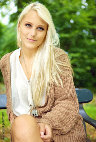 Serene Enigmatic Blonde Beauty