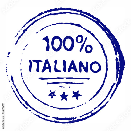 hundred percent italiano grungy ink stamp - vector