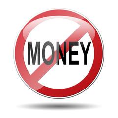 Señal trafico NO MONEY