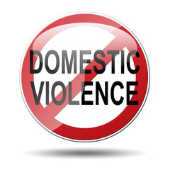Señal prohibido DOMESTIC VIOLENCE