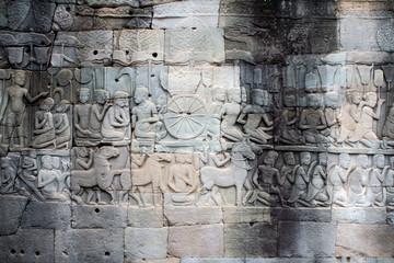 Sculpted wall, Angkor Wat