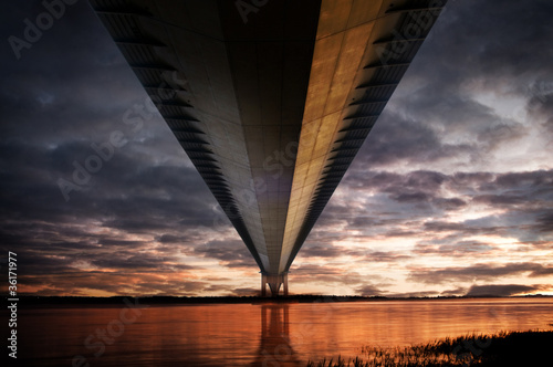 below humber bridge