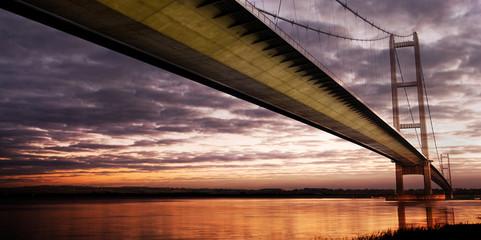 humber bridge sunset