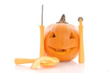 Carving the Halloween Pumpkin