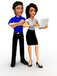 3D Business couple