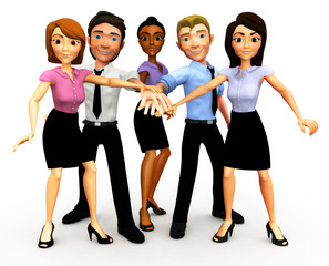 3D business team