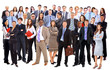 Group of business people. Isolated over white
