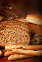 Pane integrale con grissini