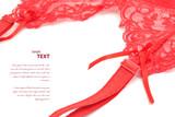 Red garter belt