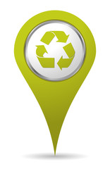 green location recycling icon