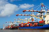 Cargo ships at harbor