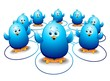 Pulcini Uccelli Blu Social Network-Blue Birds Social Media