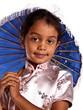 portrait d'une enfant en costume asiatique
