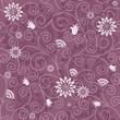 Gentle violet seamless floral pattern