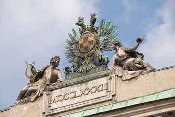 Statue composition - Albertina, Vienna