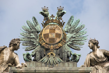 Statue composition - Albertina, Vienna closeup