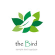 Logo bird on the nest # Vector