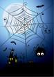 Halloween background - a night spider