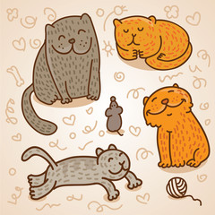 cute vector cats