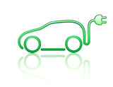 Fototapety electric powered car symbol