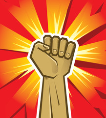 vector revolution hand