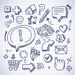 doodle internet icons