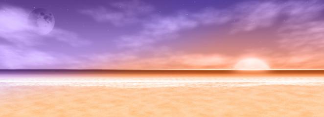 Sonnenuntergang als Hintergrund