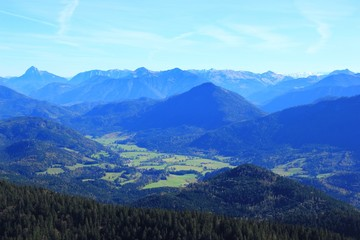 Landschaft in den Alpen