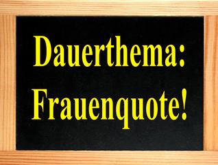 dauerthema: frauenquote