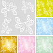Floral, vector, seamless, pattern