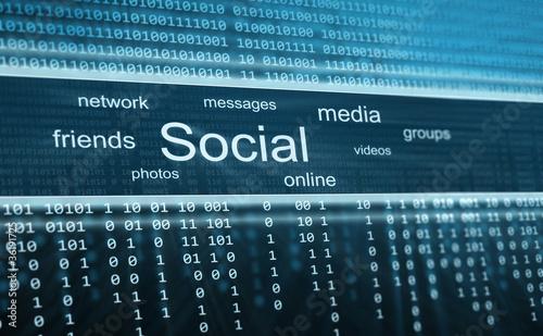 Social media, technology background
