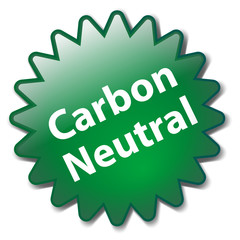 """""""CARBON NEUTRAL"""" Marketing Stamp (renewable ecological green)"""