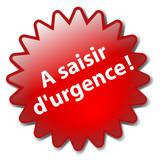 Tampon A SAISIR D'URGENCE (offre spéciale soldes prix étiquette) poster