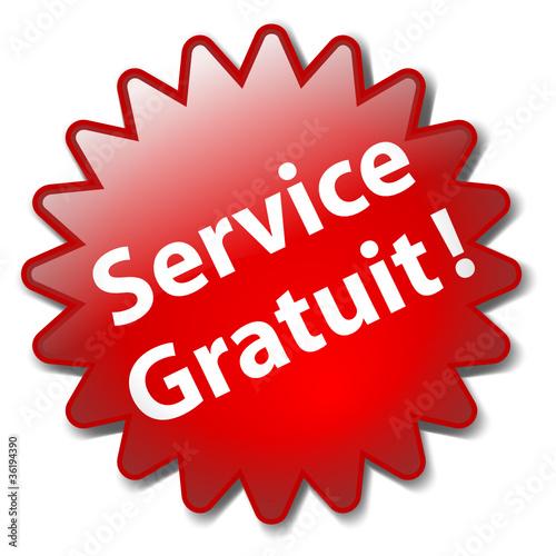 Tampon Publicitaire Service Gratuit Satisfaction