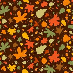 Autumn seamless background, vector illustration