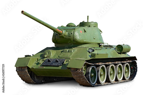 T-34 Soviet medium tank during World War II - 36197739