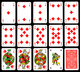 Playing cards - Diamond