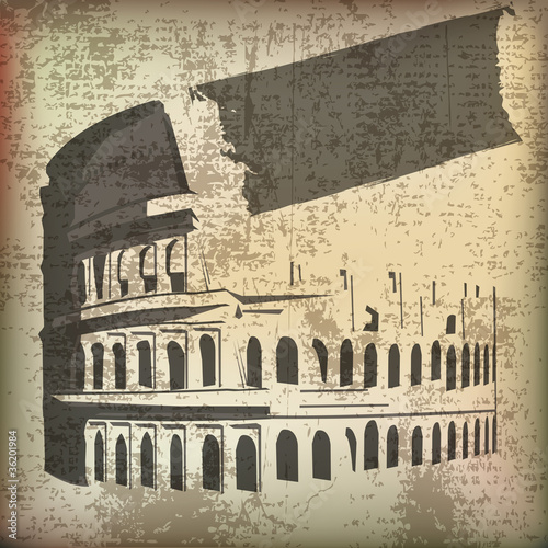 Colosseum parchment Background
