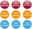100% Qualität Service Kompetenz Button