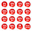 discount labels - red pack