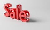 3D Sale text render