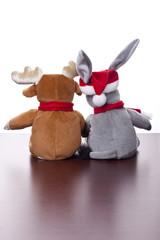 Elch und Esel (xmas) von hinten