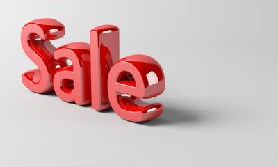 3D Sale text render